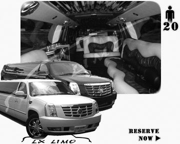 Cadillac Escalade 20 passenger SUV Limousine for rental in Oklahoma City OK