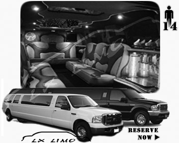 Lincoln Excursion SUV Limo for hire in Oklahoma City OK